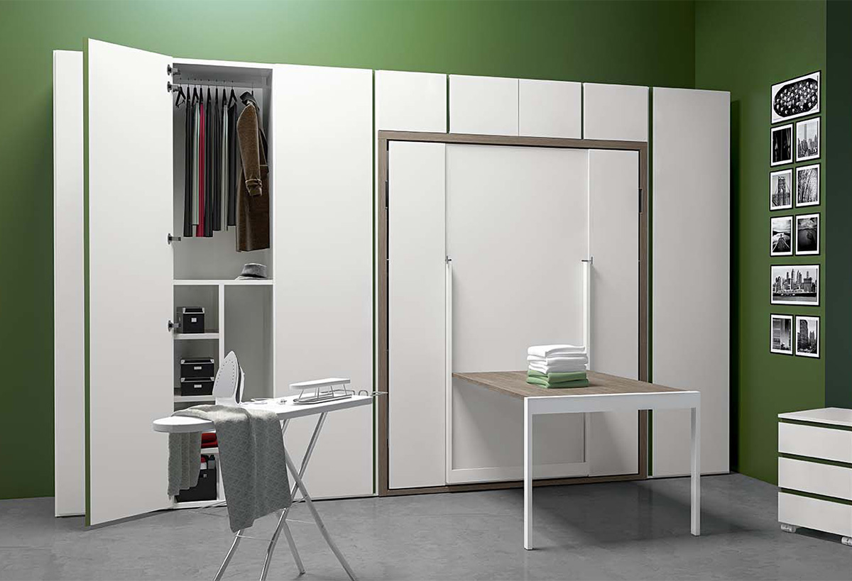 Armadio con letto matrimoniale a scomparsa clever it for Armadio a ponte matrimoniale ikea