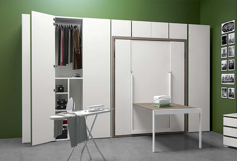 Ima può essere integrato agli armadi per una camera per gli ospiti attrezzata alla perfezione
