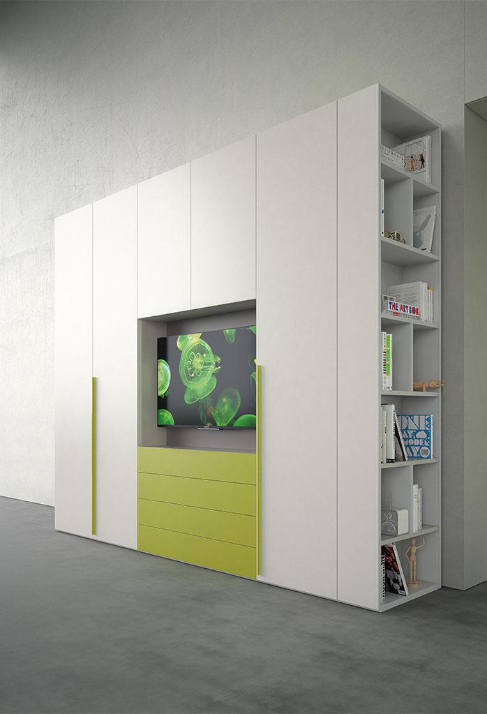 Cameretta con armadio porta tv Start Up 04 - CLEVER.IT