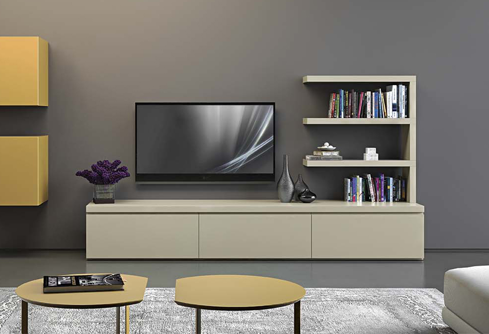 Low tv cabinet with drawers Box Base - CLEVER.IT
