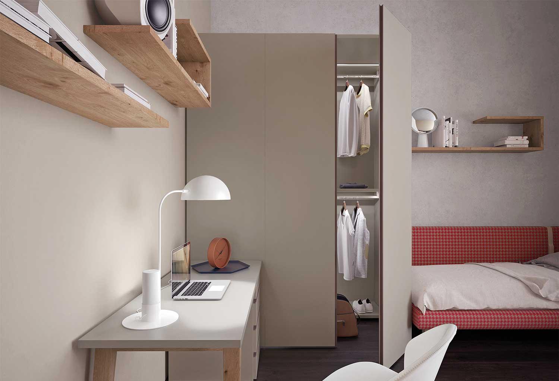 La cabina Lite può essere personalizzata per modelli, dimensioni, finiture, colori, maniglie