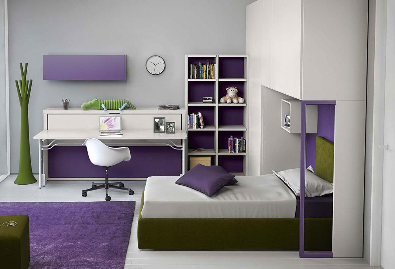 Cameretta a ponte con letto trasformabile dynamic night 4 clever it - Camerette con letto a ponte ...
