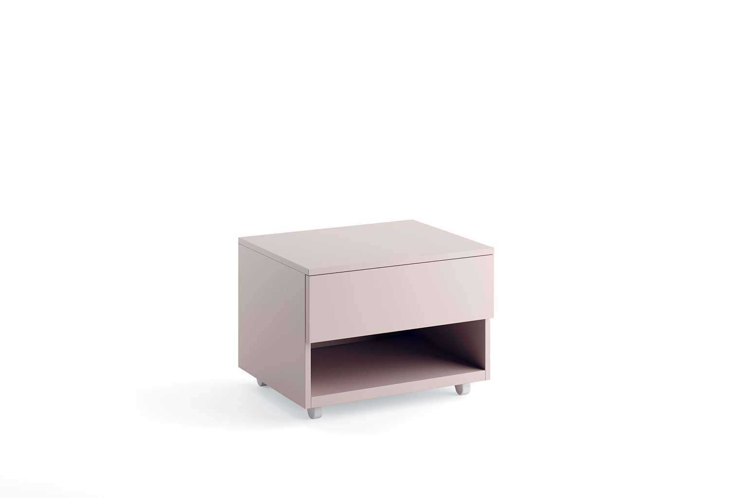Bedside table with 1 drawer and 1 open storage