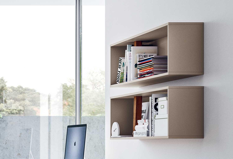 Wood Case è un contenitore aperto ideale per libri e oggetti