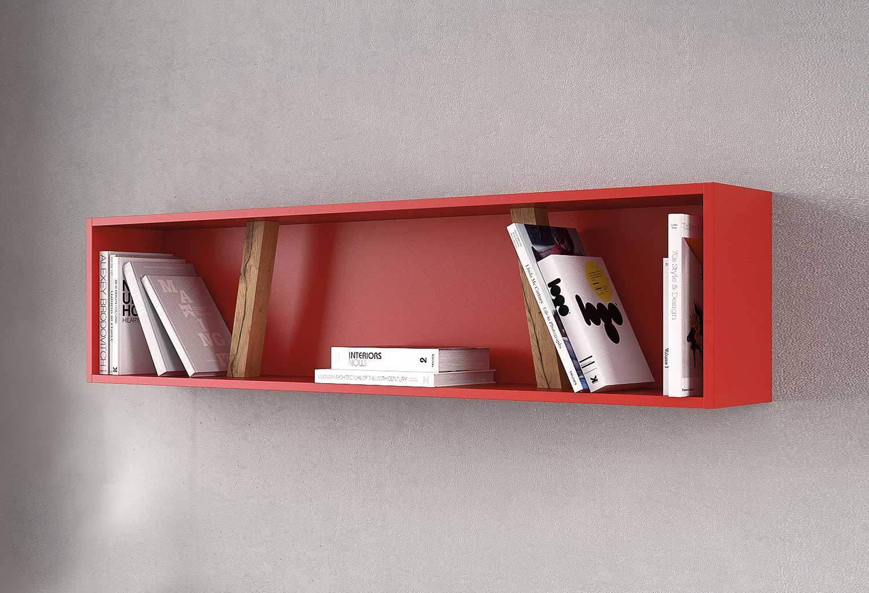 Contenitore a parete per cameretta con 2 divisori in legno