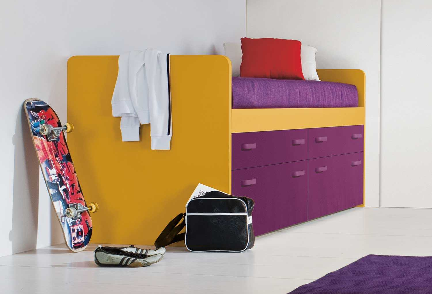 Letto Con Cassetto Letto.Letto Singolo Con Cassetti Lobby Box Clever