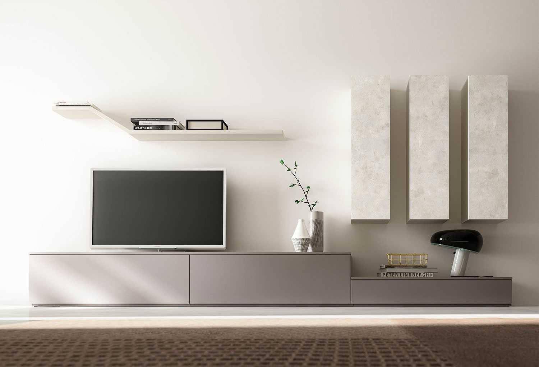 Parete Attrezzata Tortora E Bianco parete attrezzata porta tv moderna im20_l17 | clever