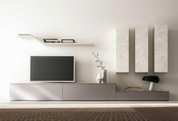 Parete attrezzata porta TV moderna IM20_L17