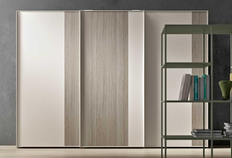 Armadio scorrevole bicolore Slim ideale per camerette e camere da letto
