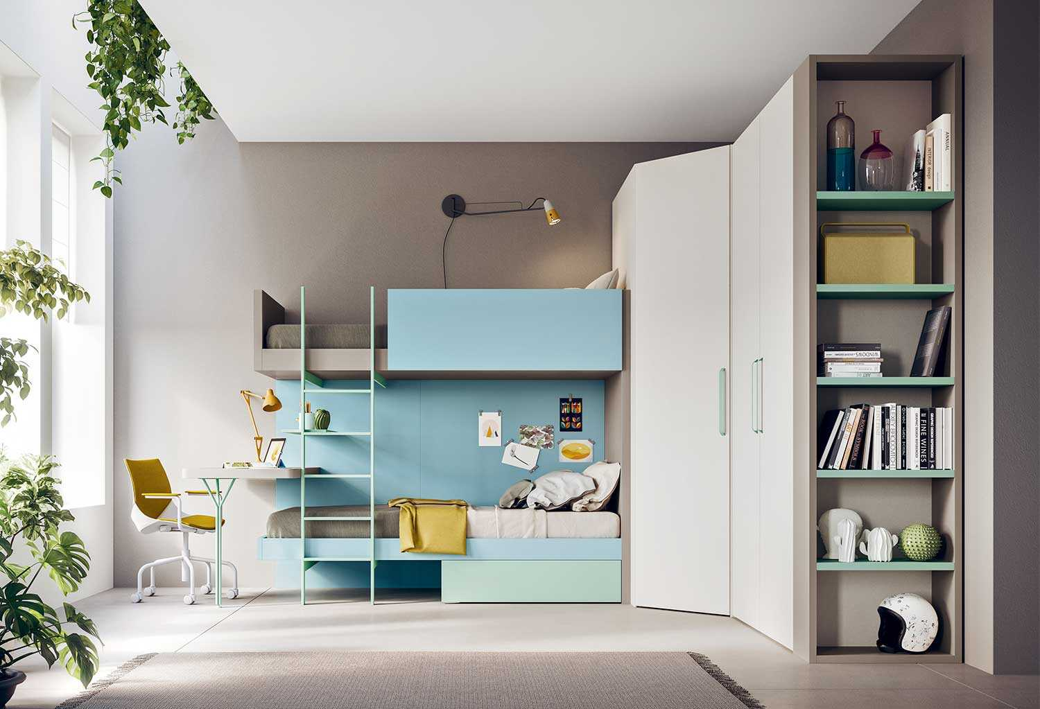 Cameretta Ragazzi Letti A Castello.Kids Bedroom Set With Bunk Bed Start S33 Clever
