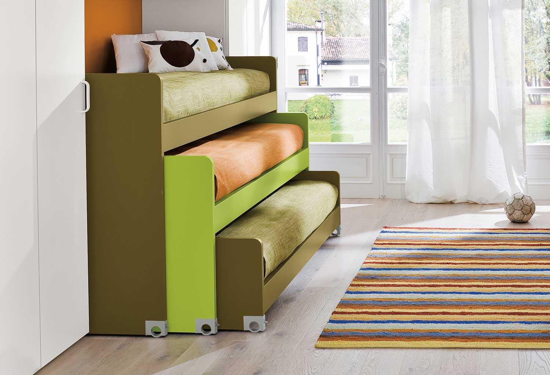 Letto A Castello 3 Letti.Lobby Alto Triple Bunk Bed Clever