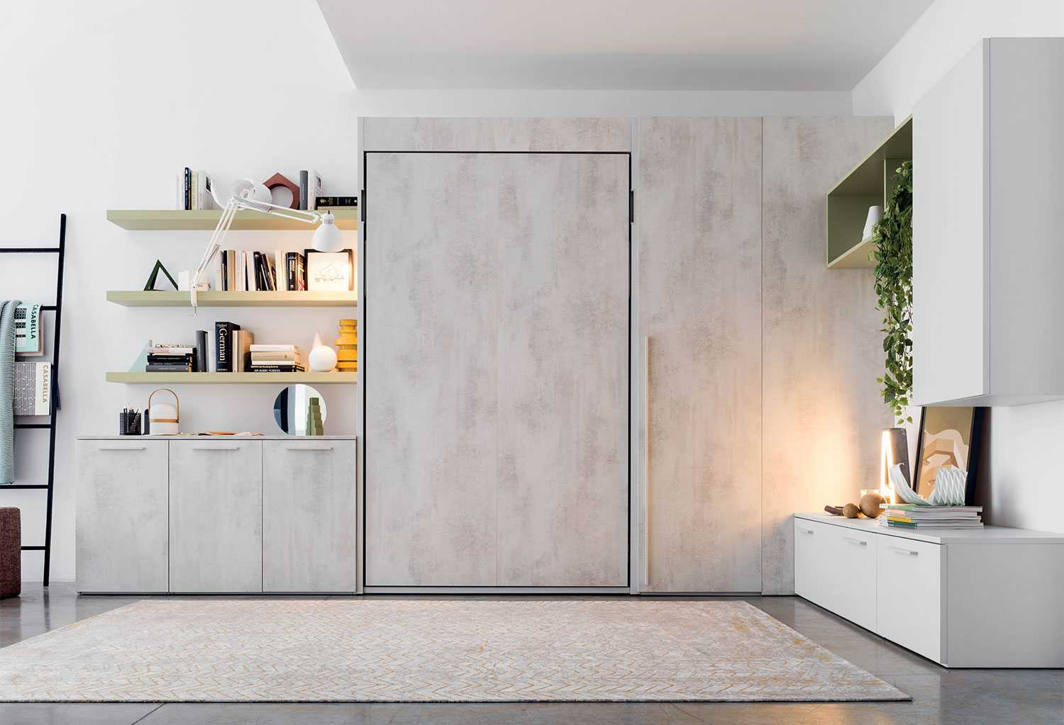 Letto A Scomparsa Matrimoniale Francese.Shin Murphy Wall Bed Clever