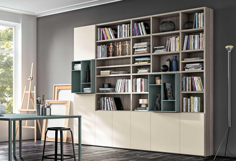 Libreria con ante chiuse IM20_L24