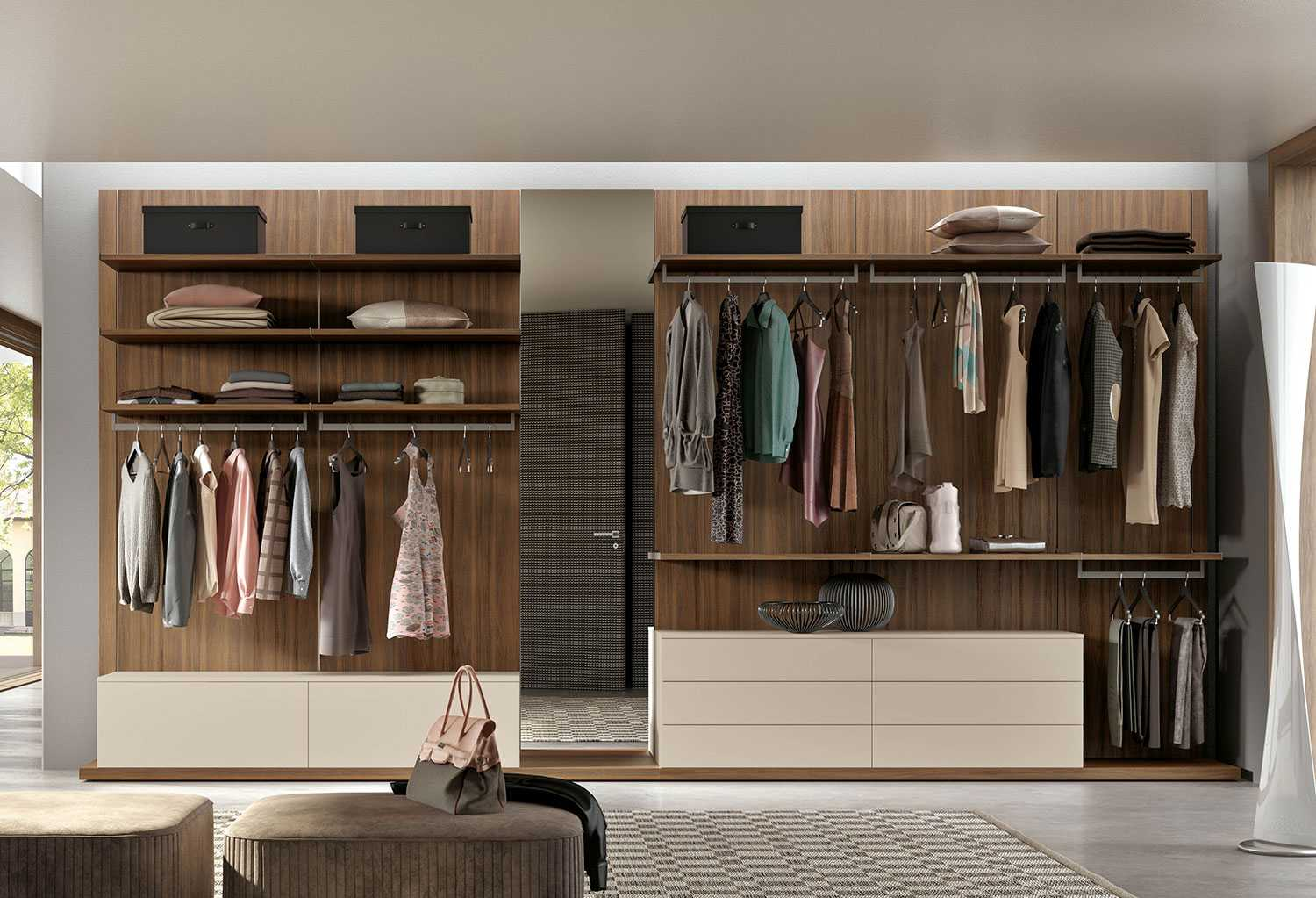 Start - Wall Mounted Walk In Wardrobe