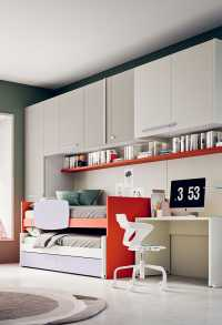 The whole set of furniture measures 390 cm