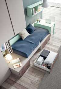 Cabin bed with 3 drawers