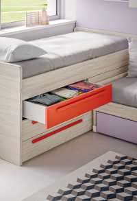 Lobby Corner mid sleeper cabin bed with drawers and under bed storage
