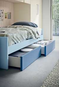 Low cabin bed with two drawers