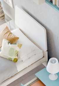 The headboard consists of a melamine, lacquer or upholstered panel