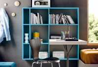 Gate bookshelf with desk Charme