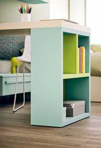 Bookcase-leg can be customized in differen colours