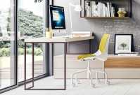 The desk can be integrated with drawer unit systems