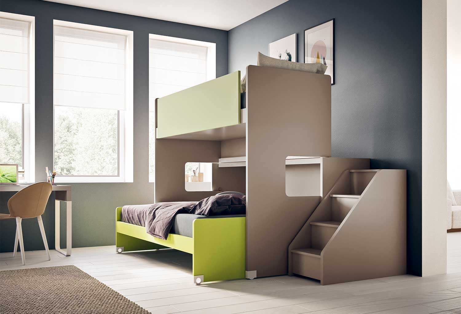Scalette Letti A Castello.Children S Bedroom Set With Bunk Bed Start S28 Clever