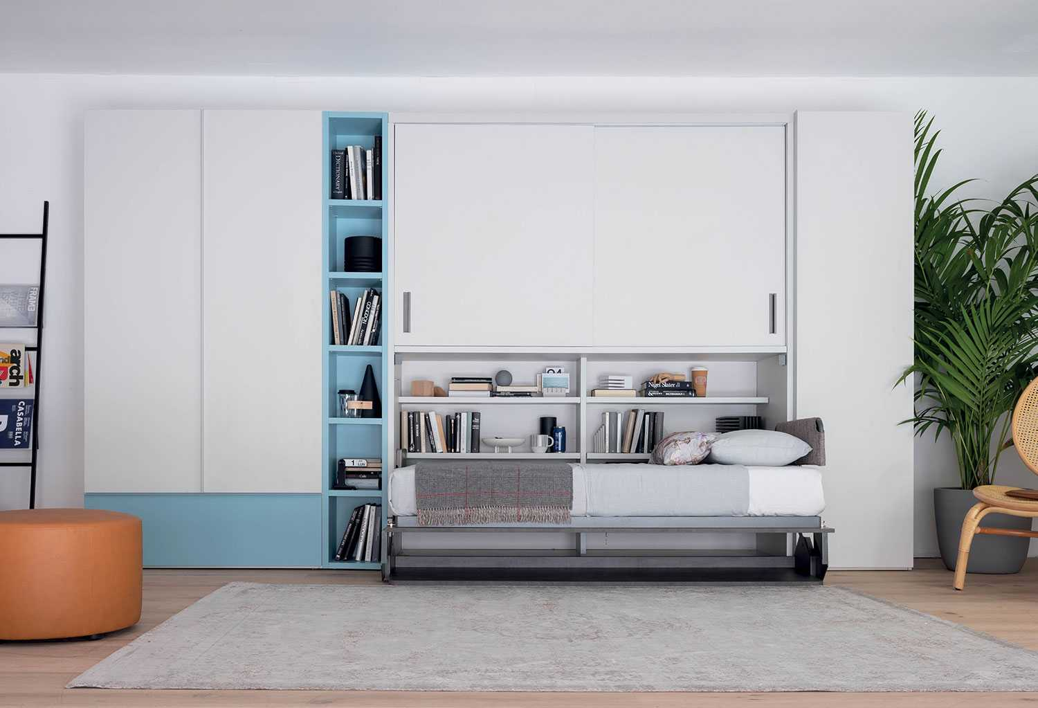 Mobile A Letto.Hiro Single Wall Bed With Wardrobe Clever