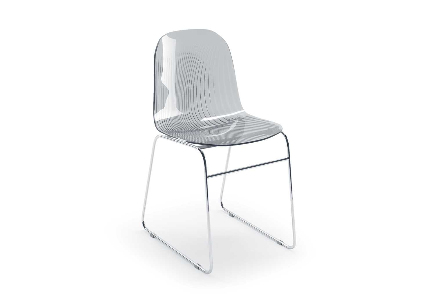 Clear Plastic Chair With Chrome Legs Playa Clever