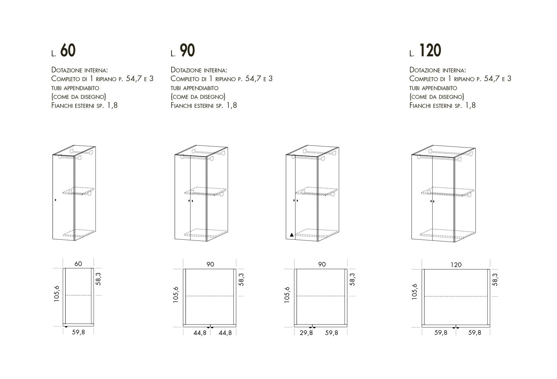 Modelli e dimensioni armadio Maxy