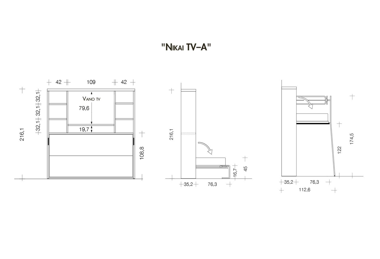 Modelli e dimensioni Nikai-TV A