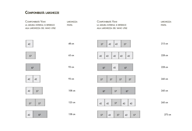 Dimensioni libreria Start-Bifacciale