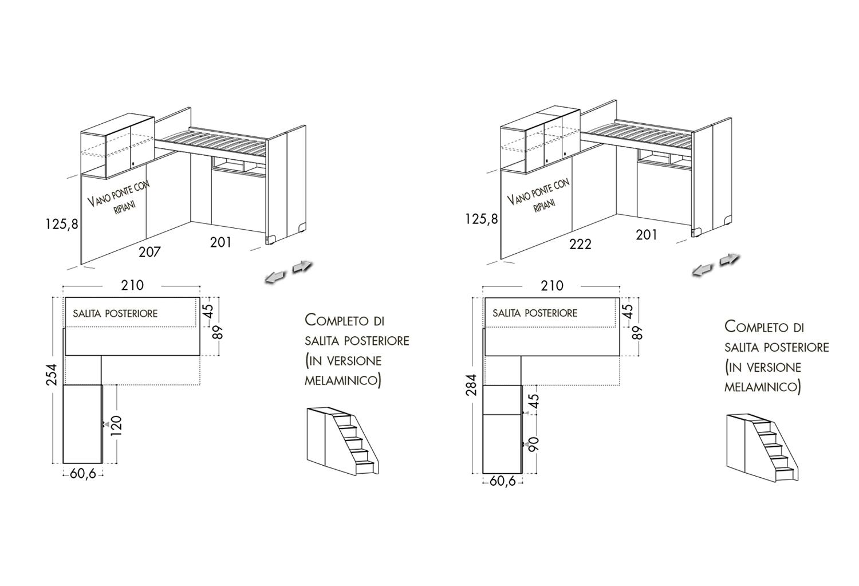 Letto con sottoponte libero: modelli e dimensioni disponibili