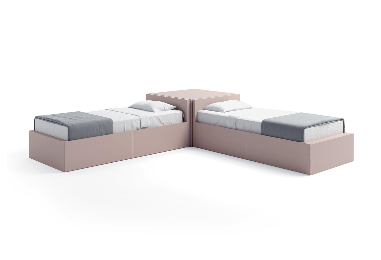 Letto singolo con cassetti xl clever it - Letti singoli con doppio letto ...