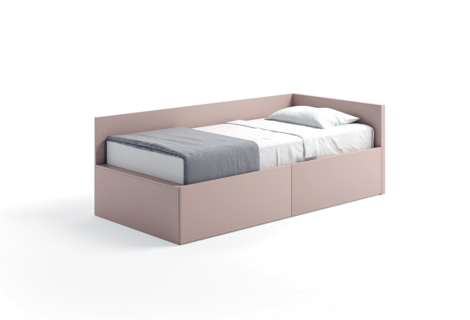 Cabin bed with headboard and back panel