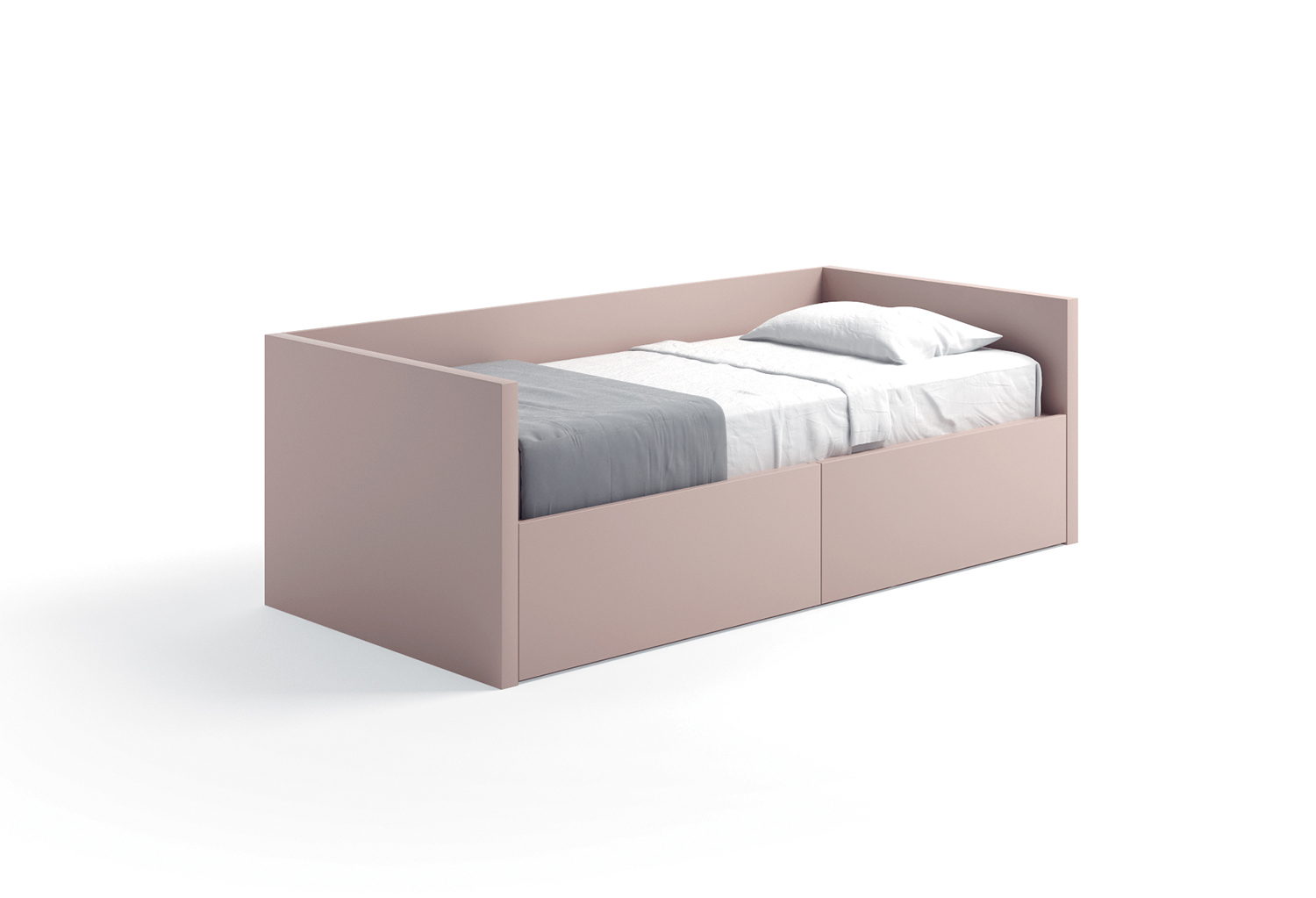 Bed with headboard, footboard and back panel