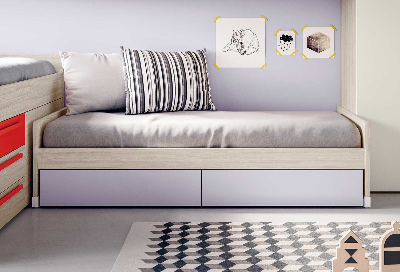 Lobby Estraibile è disponibile nel modello singolo per rete cm 80 x 190 e cm 90 x 190