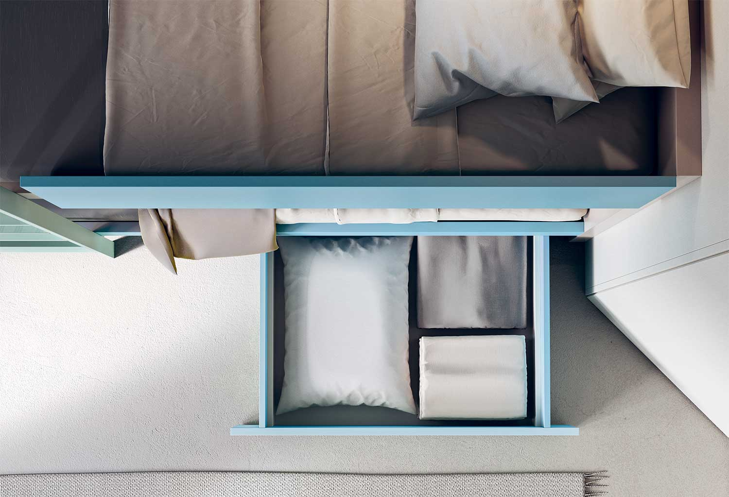 Under bed storage to maximize space