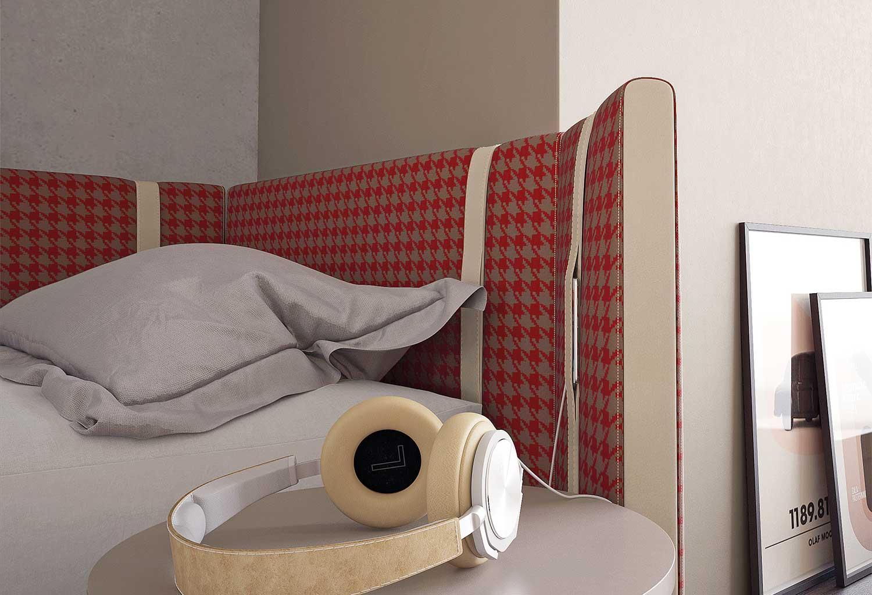 Dettaglio del letto Sipario