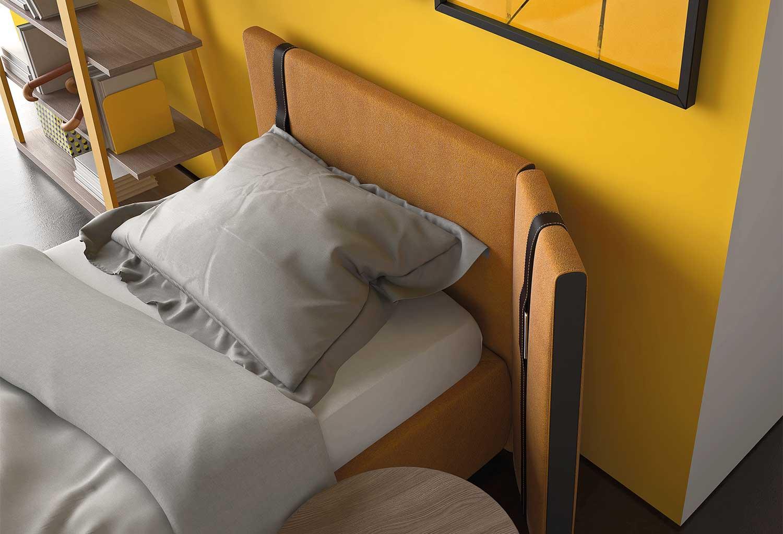Dettaglio del letto imbottito Sipario