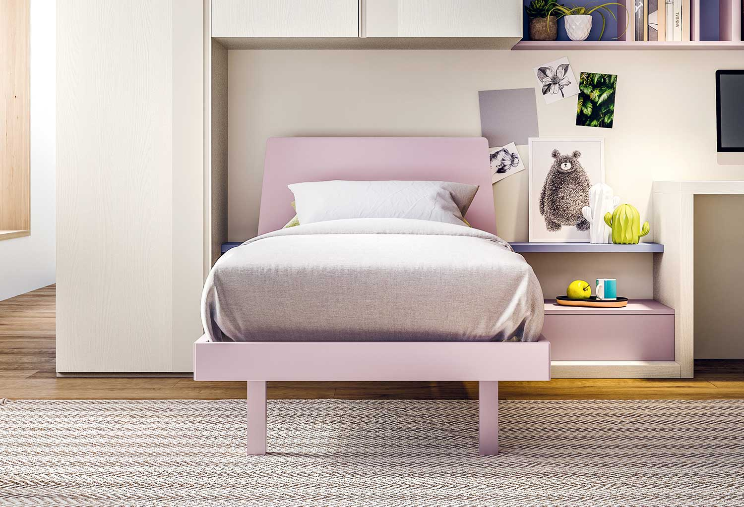 The single bed frame is available in many sizes and models