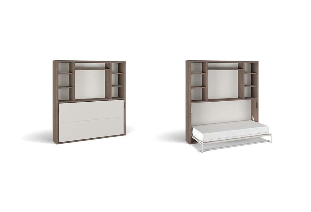 Nikai-TV B con letto nel vano superiore e tv nel vano inferiore