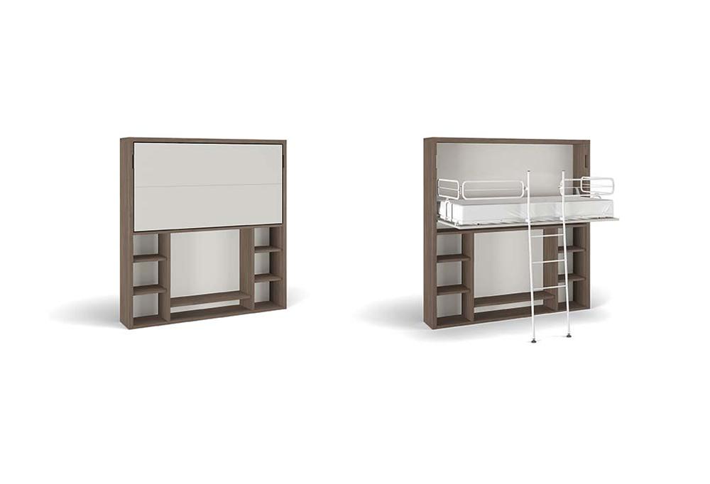 Nikai-TV A con letto nel vano inferiore e tv nel vano superiore