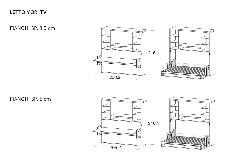 Stunning letto singolo dimensioni ideas acrylicgiftware - Letto singolo dwg ...