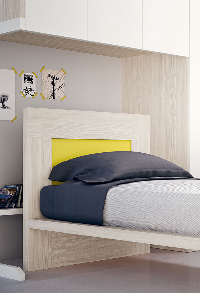 Two colour headboard can be customized in many different combinations