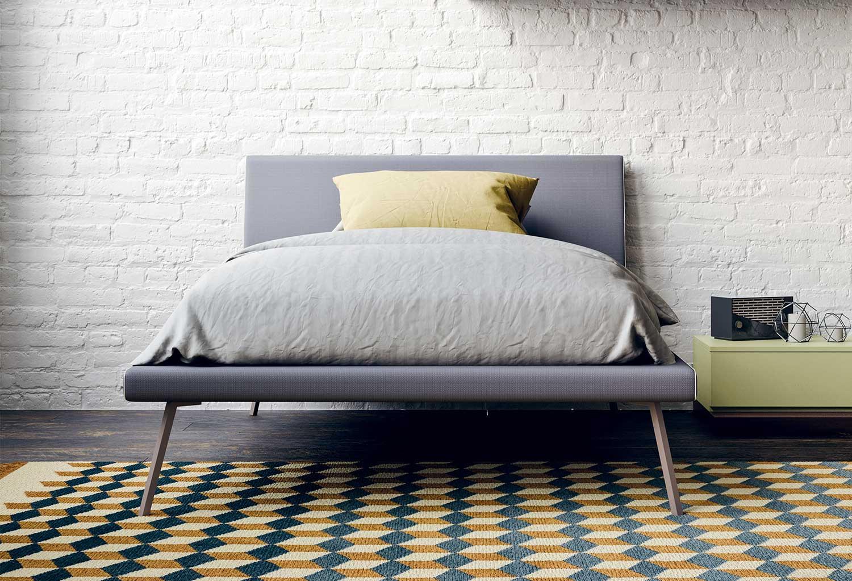 Slitta è un letto singolo dal design essenziale per la camera dei ragazzi