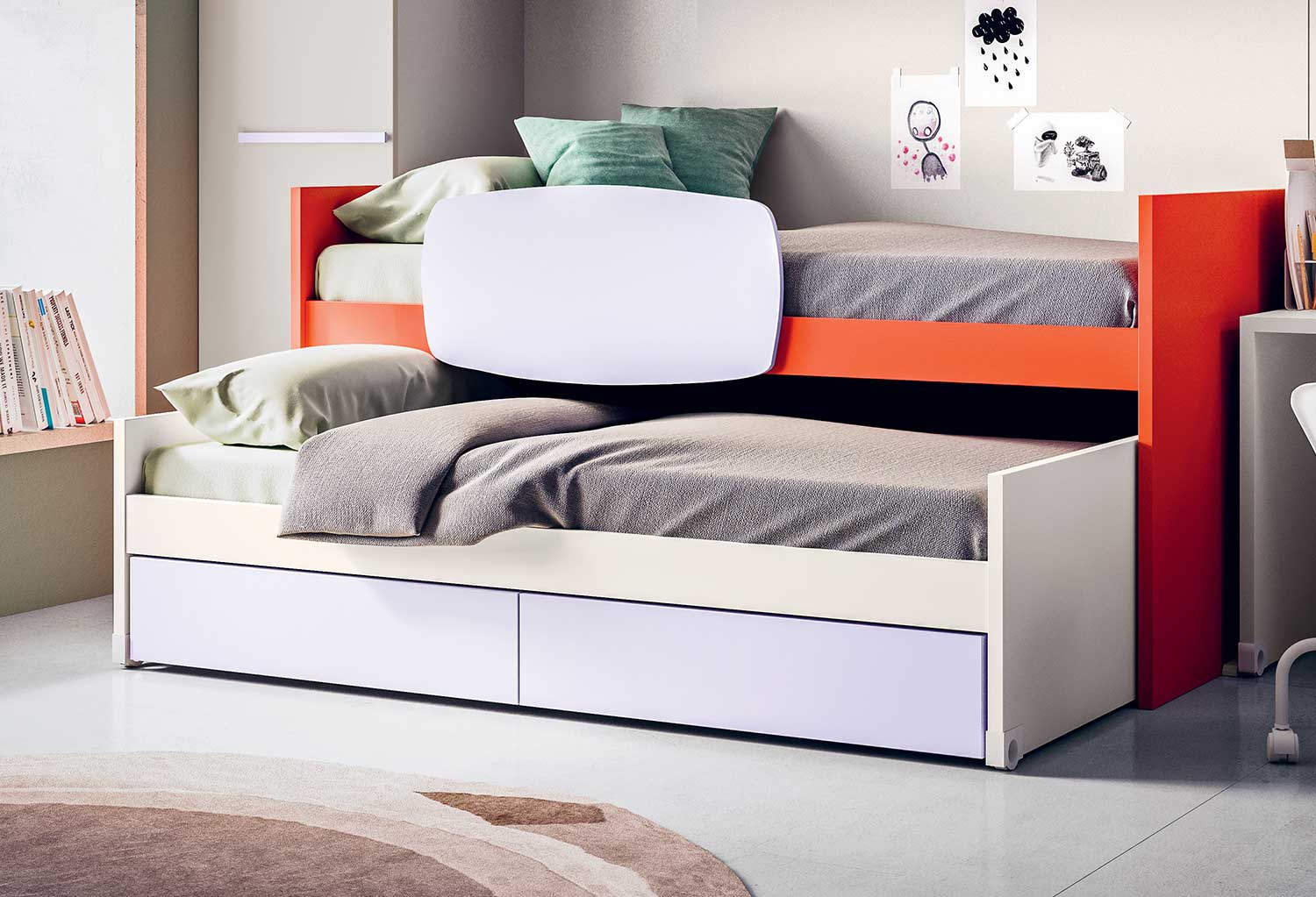 Lobby Estraibile Pull Out Bed With Big Drawers Or Pull Out