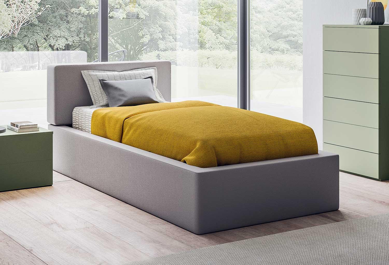 letto singolo con box contenitore quadro clever it