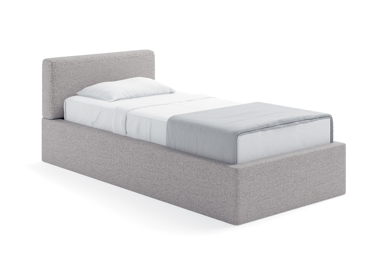 Quadro single bed with storage box - CLEVER.IT