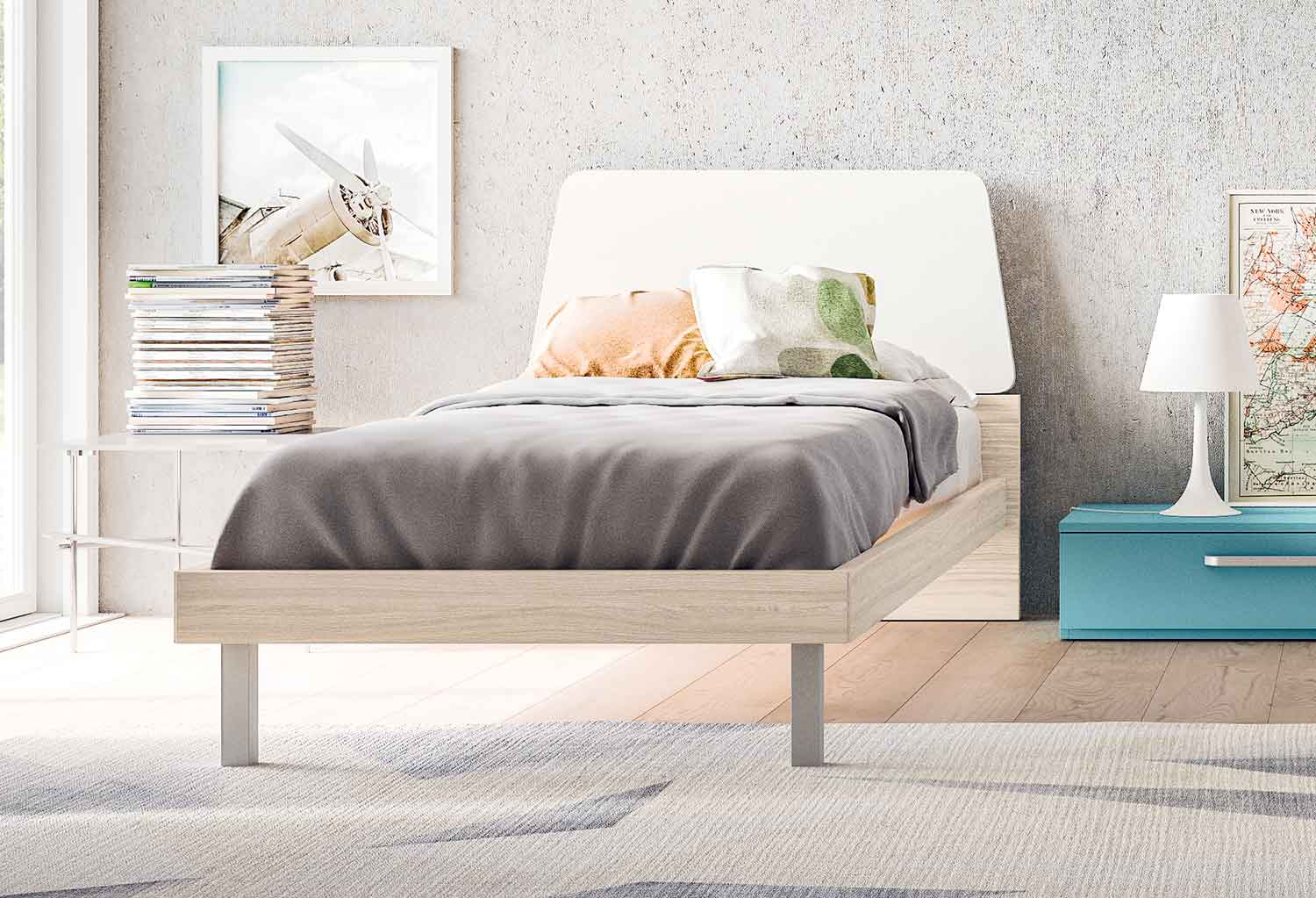 The Terry modern single bed brings a simple yet sophisticated design to your kids' bedroom